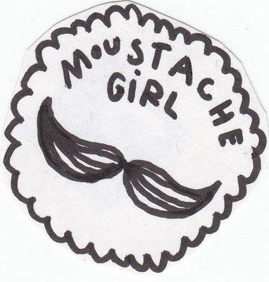 moustache girl 1