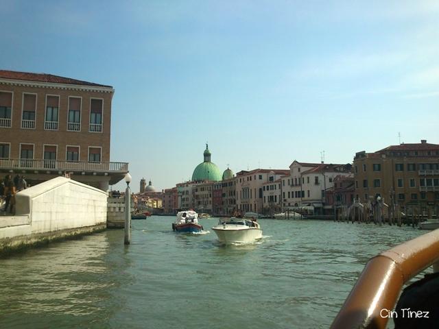 Entrada al Gran Canal desde el Vaporetto