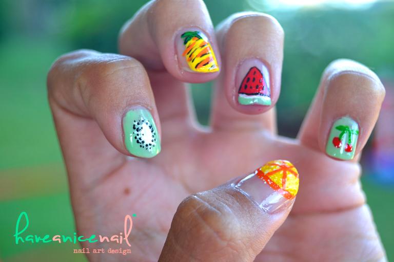 nail art frutas