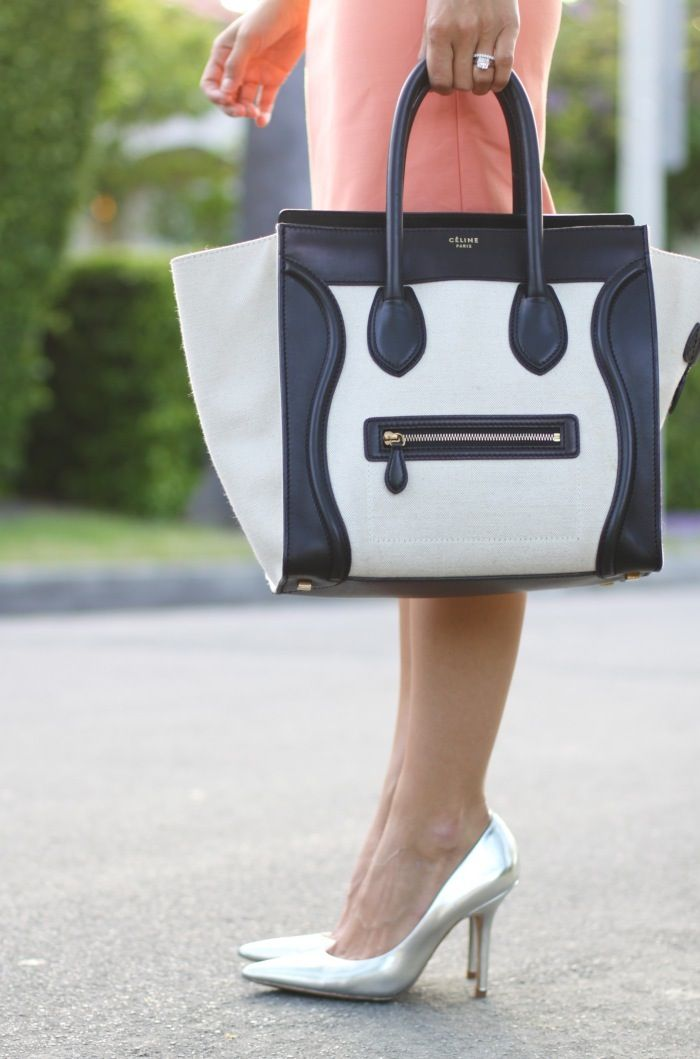 celine bag blanco y negro