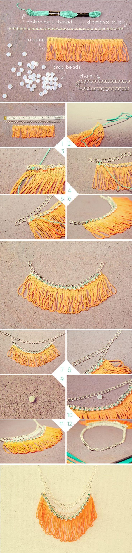 collar naranja diy