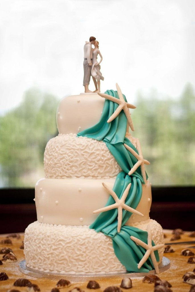 tarta boda playa