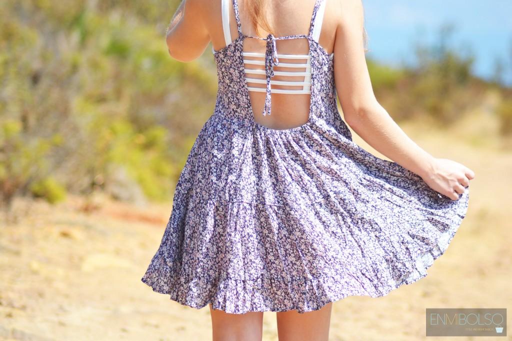vestido espalda top