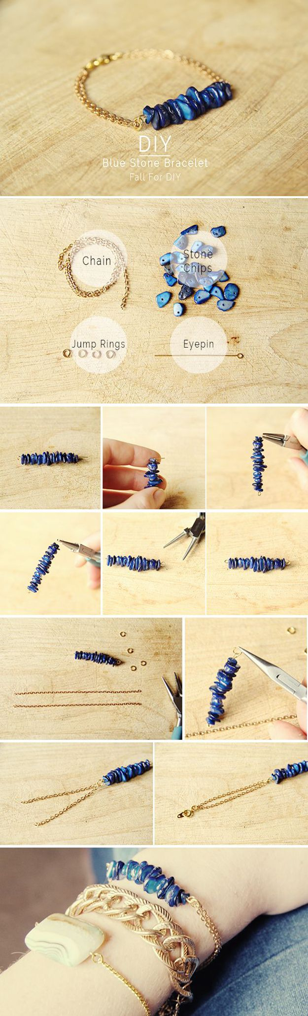 DIY Pulsera azul