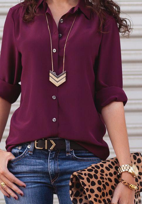 shirt marsala