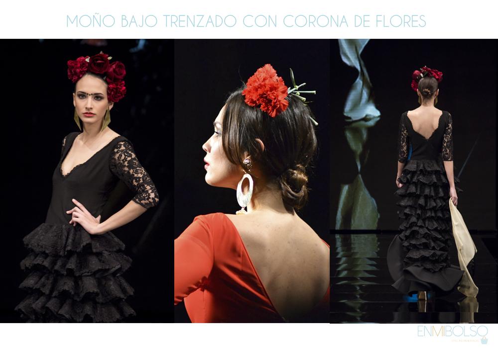 peinados-flamenca-moño-bajo-corona