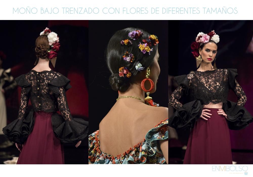 peinados-flamenca-moño-bajo-flores
